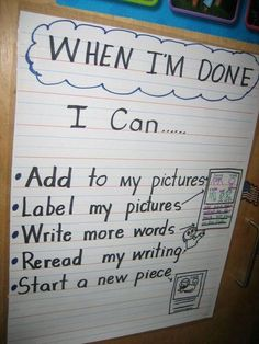 Writing anchor chart