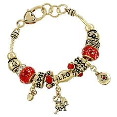 Leo Charm Bracelet Zodiac Lion Gold Tone Orange Crystal Murano Beads >>> Learn more by visiting the image link. (This is an affiliate link) Slap Bracelets, Beaded Bracelets, Charm Bracelets, Link Bracelets, Bangle, Latest Jewellery Trends, Jewelry Trends, Jewelry Ideas, Orange Crystals
