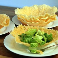 Parmesan & Romano Edible Cheese Bowls