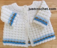 Free baby crochet pattern textured coat usa
