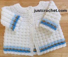 Free baby crochet pattern textured coat usa