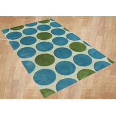 @Overstock - Primary materials: New Zealand blend wool  Pile height: 0.70 inches  Style: Contemporary  http://www.overstock.com/Home-Garden/Horizon-Handmade-Metro-Green-Wool-Rug-5-x-8/6213058/product.html?CID=214117 $174.99