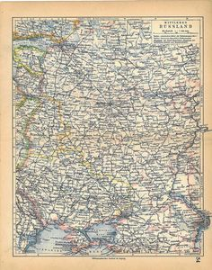 1928  Central Russia Vintage Map