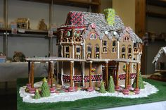 gingerbread house gallery | ... and Kathy Cooper who created a reproduction of the Mark Twain House