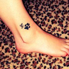Paw print tattoo