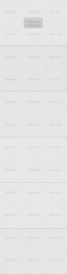 6 Subtle Paper Backgrounds — Photoshop PSD #fabric #torn • Available here → https://graphicriver.net/item/6-subtle-paper-backgrounds/2853793?ref=pxcr