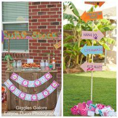 Surf Shack Birthday Party via Kara's Party Ideas - www.KarasPartyIdeas.com
