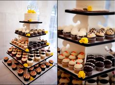 Mini-cupcakes instead of a wedding cake!