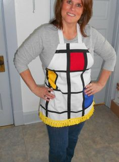 Mod Pattern Theme apron for  Funky Finds made by Fried Green Aprons