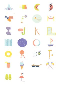 Summer Alphabet by Anne Lee Designs