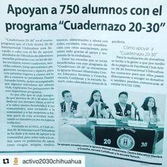 El Heraldo de Chihuahua apoyándonos a realizar la convocatoria de #Cuadernazo2017