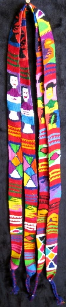 guatemalan belt, hatbandaguacatan belt, guatemalan hair tie, foot loom, hand woven, cinta, wrapped