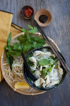 Vietnam - Chicken Pho - hearty Vietnamese chicken noodles soup, hearty and super delicious. Chowder Recipes, Soup Recipes, Cooking Recipes, Chicken Pho, Chicken Noodle Soup, Asian Street Food, Asian Recipes, Ethnic Recipes, Vietnamese Cuisine