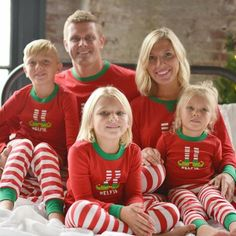 02a294fe76 Sleepyheads Christmas Family Matching Red Striped Elf Pajama PJ Sets This  comfy knit family matching pj