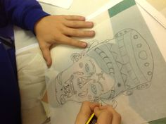 Mayan self portraits ...early stage of project