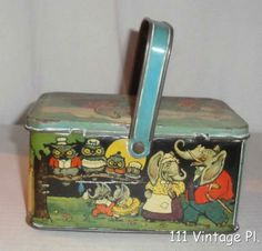 Vintage Lunch Bucket | Vintage Tin Lunch Pail Animals Circus Adorable L K | eBay