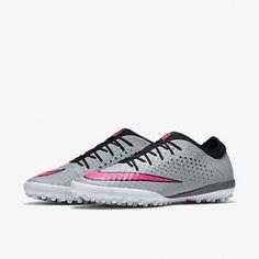 84da990330e Nike Mercurial finale TF Wolf grey   pink hyper soccer Futsal Shoe 8.5 Men  US
