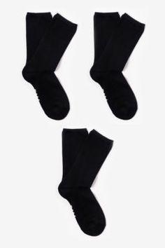 Bamboo Socks - Heavyweight Classics - Black - 3 Pairs