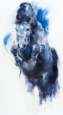 Jump I 180-100 cm Beautiful horse art by Marli Hommel. I want this for over our fireplace!