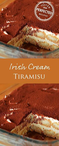 Irish Cream Tiramisu #tiramisu #dessertrecipe #tiramisurecipe