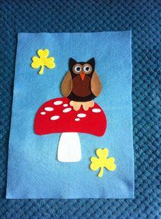 Felt Brownie pennant handcrafted by Alix Jones to celebrate The Big Brownie Birthday Girlguiding UK 2014.