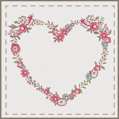~rengarenkyakamoz~*: Şubat 2015 Floral Artwork, Printable Tags, Abstract Canvas, Vintage Flowers, Decoupage, Cath Kidston Wallpaper, Love Backgrounds, Heart Illustration, Pop Design