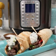Melt-in-Your-Mouth Beef Gyros - Instant Pot Recipes