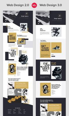 If you compare five-year-old web designs to modern ones, you will see a huge difference. Just look at what is trending today on Behance and Dribbble. New pages in Web Design differ with free positioning, element overlapping, white space, and free sizing. Web And App Design, Web Design Quotes, Modern Web Design, Creative Web Design, Web Design Trends, Design Blog, Web Design Company, Website Design Inspiration, Page Design