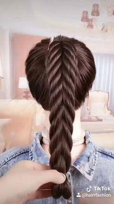 Hairdo For Long Hair, Long Hair Video, Easy Hairstyles For Long Hair, Up Hairstyles, Hair Updo, Athletic Hairstyles, Braided Hairstyles Tutorials, Hair Tutorials, Front Hair Styles