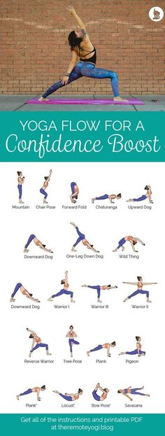 Yoga Sequence for Confidence - Free Printable PDF This yoga sequence is designed. Yoga Sequence for Confidence - Free Printable PDF This yoga sequence is designed with postures that will expand your Vinyasa Yoga, Hatha Flow Yoga, Bikram Yoga, Yoga Meditation, Yoga Flow Sequence, Kundalini Yoga, Ashtanga Yoga Sequence, Pilates Yoga, Iyengar Yoga