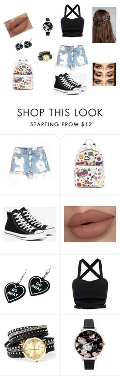 """""""salir"""" by natasha-sayago ❤ liked on Polyvore featuring Furst of a Kind, Anya Hindmarch, Converse, Witch Worldwide and Olivia Burton"""