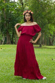 No.22 - Bohemian Red Dress, Plus Size Hippie Dress, Gypsy Dress, Sundresses, Hippie Dress, Plus Size Dress, Womens Maxi Dresses, Boho Maxi Dress