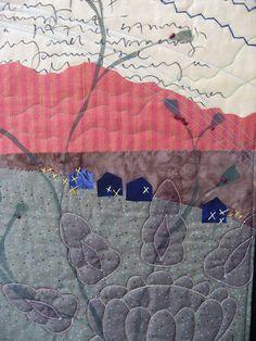 Blue Chair Mantra detail, Deborah Boschert