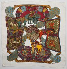 """Hermes scarf """"Art des steppes"""""""