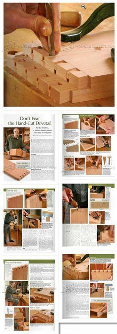 Hand-Cut Dovetail - Joinery Tips, Jigs and Techniques - Woodwork, Woodworking, Woodworking Tips, Woodworking Techniques Woodworking Skills, Woodworking Techniques, Woodworking Shop, Woodworking Plans, Woodworking Projects, Wood Joinery, Workshop Storage, Entry Hallway, Do Not Fear