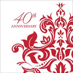 Ruby 40th Anniversary Luncheon Napkins