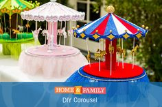 DIY Carousel -  Our DIY Star Finalist, Analy Garcia, makes a toy carousel. Not only are they easy to make, but you can customize them however you want!  Tune in to Home and Family weekdays at 10/9c on Hallmark Channel!