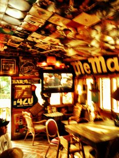 Huc-A-Poo's Bar on Tybee Island near Savannah.  Cheapest drinks on the island!