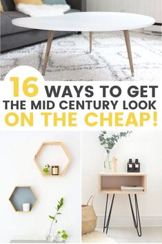 16 Affordable DIY Mid-Century Furniture Ideas That Will Inspire You DIY midcentury furniture ideas that you can do on the cheap! The post 16 Affordable DIY Mid-Century Furniture Ideas That Will Inspire You appeared first on Design Ideas. Easy Home Decor, Handmade Home Decor, Cheap Home Decor, Mid Century Modern Decor, Mid Century Modern Furniture, Midcentury Modern, Danish Modern, Furniture Projects, Furniture Design