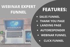 I will create landing page, webinar funnel, s ales funnel – FiverrBox Create Landing Page, Promotion, Web Design, Design Web, Website Designs, Site Design