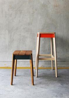 Taburetes de madera,,,,,, simplicidad al poder.
