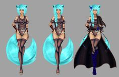 Cat girl - auction - closed by LotusLumino on DeviantArt