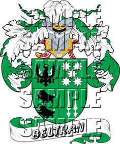 Beltran Family Crest apparel, Beltran Coat of Arms gifts