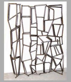 #TonyRosenthal Untitled, 1997  Welded Steel Sculpture  53 x 38 x 8 inches.Art © Tony Rosenthal/Licensed by VAGA, New York, NY vagarights.com The Estate of Tony Rosenthal is represented by Joseph K. Levene Fine Art, Ltd. http://josephklevenefineartltd.com