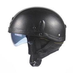 ZENGEN HALF FACE VINTAGE MOTORCYCLE HELMETS-CRUISER HELMETS-CRUISER-black-Helm Zone