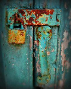 Rusty Lock Photograph - Rusty Lock Fine Art Print