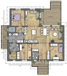 House Floor Plans, Future House, Sweet Home, Home And Garden, Flooring, How To Plan, Interior Design, Architecture, House Ideas