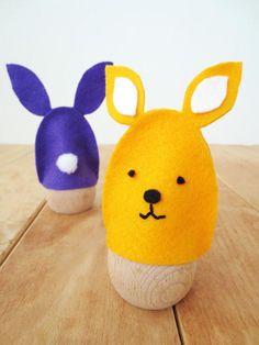 DIY Easter : DIY – No sew Easter bunny egg cozies