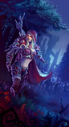 World of Warcraft: Battle for Azeroth Art Warcraft, World Of Warcraft Game, Warcraft Legion, Fantasy Girl, Dark Fantasy, World Of Warcraft Wallpaper, Illustration Fantasy, Sylvanas Windrunner, Elfa
