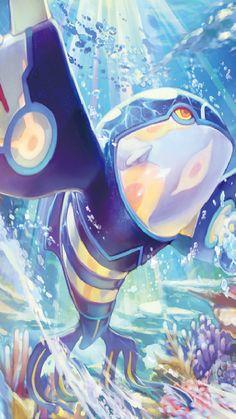 Kyogre (Pokémon) - Bulbapedia, the community-driven Pokémon encyclopedia Groudon Pokemon, Pokemon Firered, Pokemon Eeveelutions, Pokemon Comics, Pokemon Memes, Pokemon Fan Art, Cool Pokemon Wallpapers, Cute Pokemon Wallpaper, Deadpool Pikachu